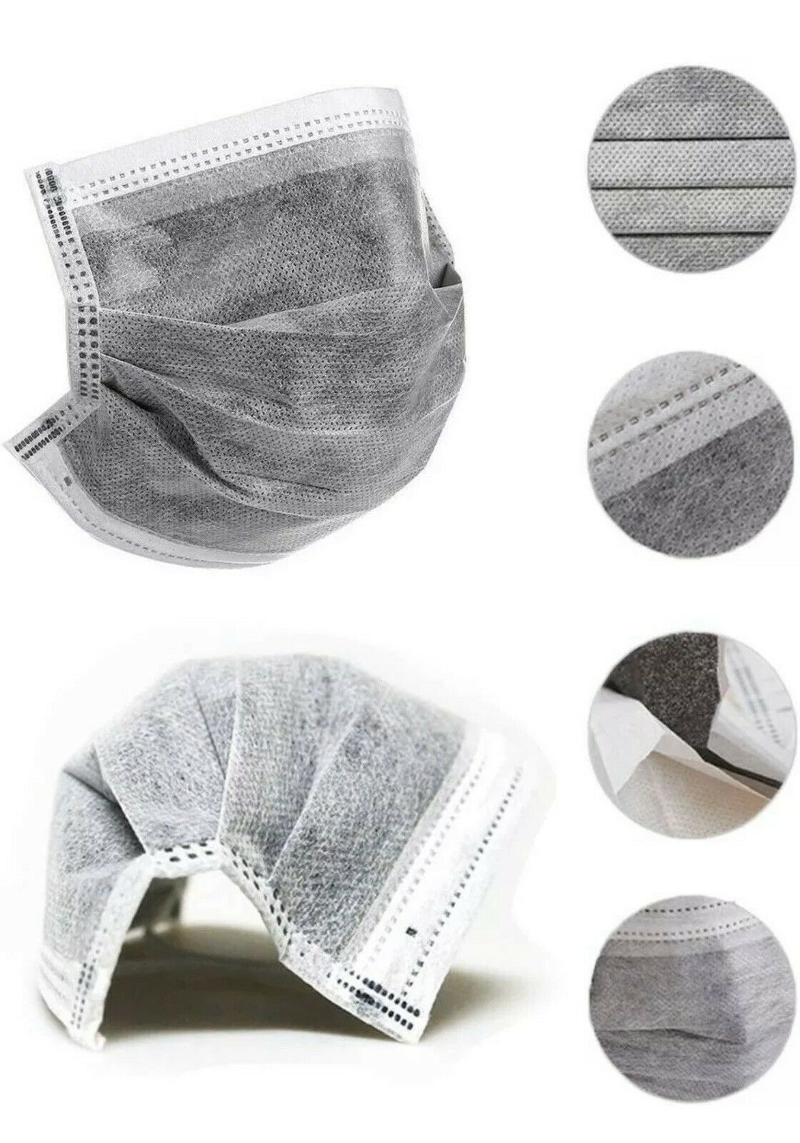 10/20/25/50/100/200 Pcs 4 Layers Non-Woven Mask Thickened Disposable Mouth Mask