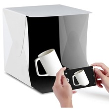 Light Tent Portable Box Photography Kit with LED (12X12X12 Inches) 4 Colors Backdrops