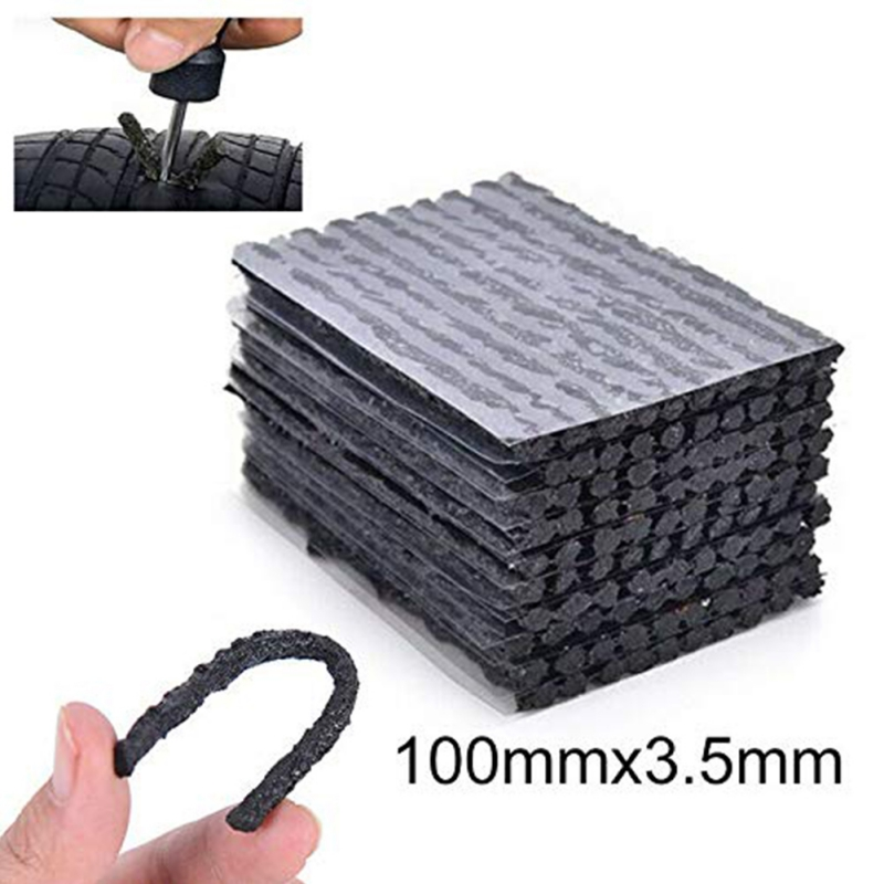10PCS 100mmx3.5mm Tubeless Tire Repair Tools Strips Stiring Glue For Tyre Puncture Emergency Car Motorcycle Bike Tyre Repairing