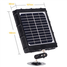 TKKOK Solar Panel Kit 3000mAh 3W for Hunting Trail Cameras  Waterproof Rechargable Li battery