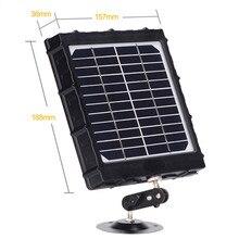 Tkugo مجموعة اللوحة الشمسية 3000mAh 3 واط للصيد درب كاميرات مقاوم للماء بطارية ليثيوم قابلة للشحن