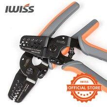 Terminais iwiss ferramentas de friso IWS-2412M/IWS-2820M para friso AWG24-12/AWG28-20 jam, molex, tyco, jst terminais e conectores