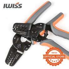 Terminais iwiss ferramentas de friso IWS 2412M/IWS 2820M para friso AWG24 12/AWG28 20 jam, molex, tyco, jst terminais e conectores