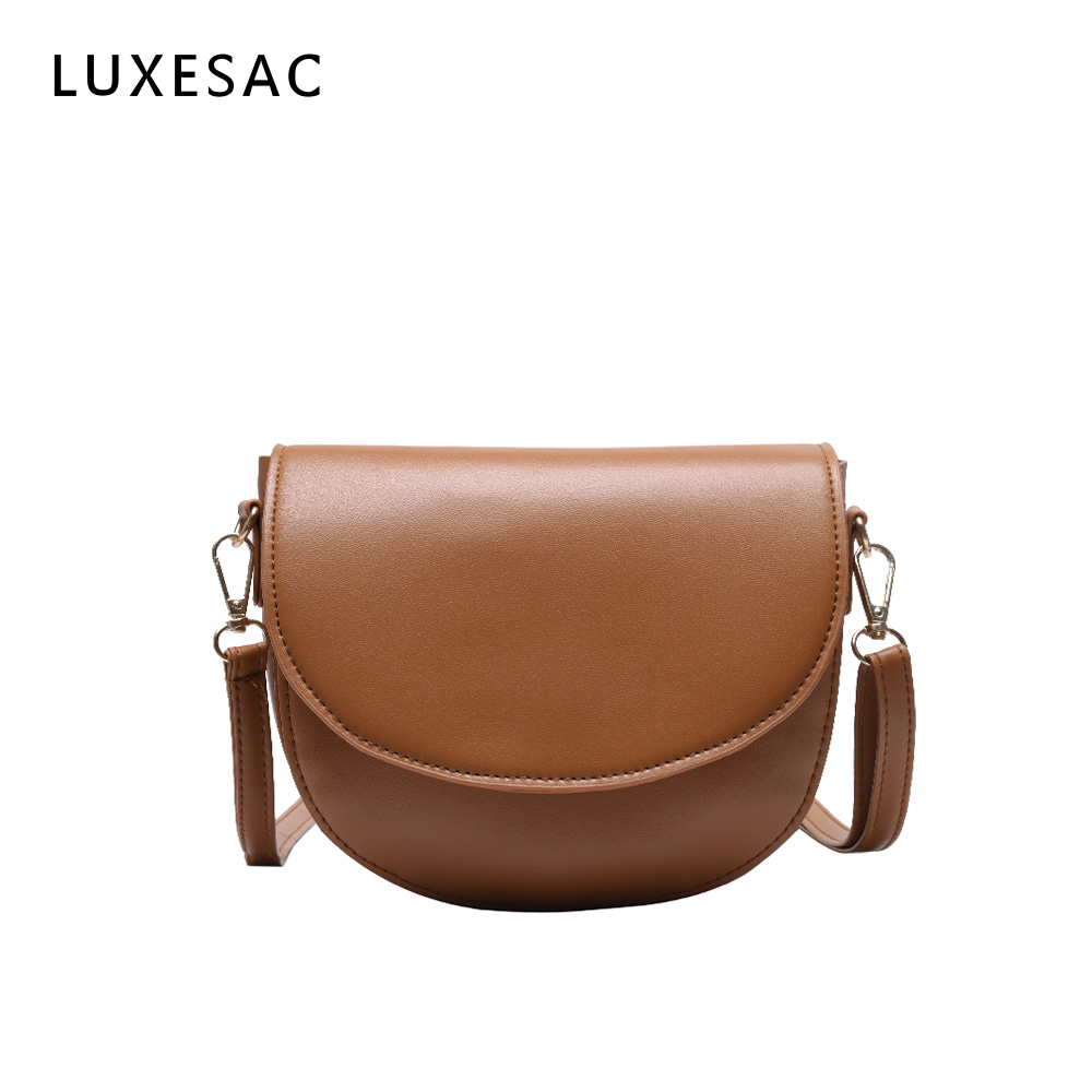 Mini Saddle Crossbody Bags For Women Bolsa Feminina Pu Leather Vintage Small Women's Handbag Shoulder Bag Brown Sac Main Femme
