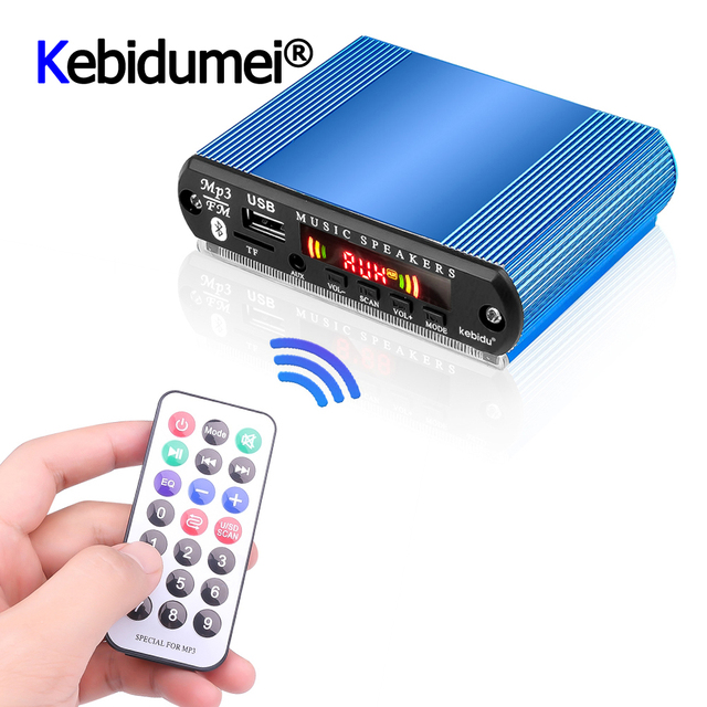 Mini araba USB dijital LED ses amplifikatörü amplifikatör MP3 dekoder destek TF kart FM radyo çalar uzaktan kumanda ile