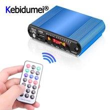 미니 자동차 USB 디지털 LED 오디오 앰프 앰프 MP3 디코더 지원 TF 카드 FM 라디오 플레이어 원격 제어