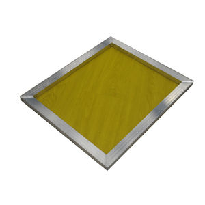 Image 3 - 1Pc 120t maille réutilisable en aluminium sérigraphie cadre 27x39cm avec maille jaune 300TPI pour faire pochoir