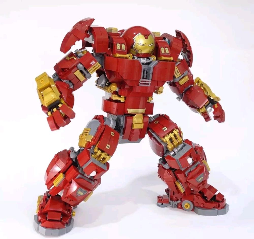 Lepinblocks 07101 Super Hero Toys Series Legoinglys Compatible 76105 Iron Man Anti Hulk Mech Building Bricks Blocks Toys Gifts