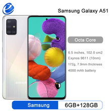 Samsung – téléphone portable Galaxy A51 A515F, 2020 d'origine, 6 go de RAM, 128 go de ROM, Octa Core, 6.5 pouces, 1080x2400, 4000mAh, 4 caméras, NFC, android 10