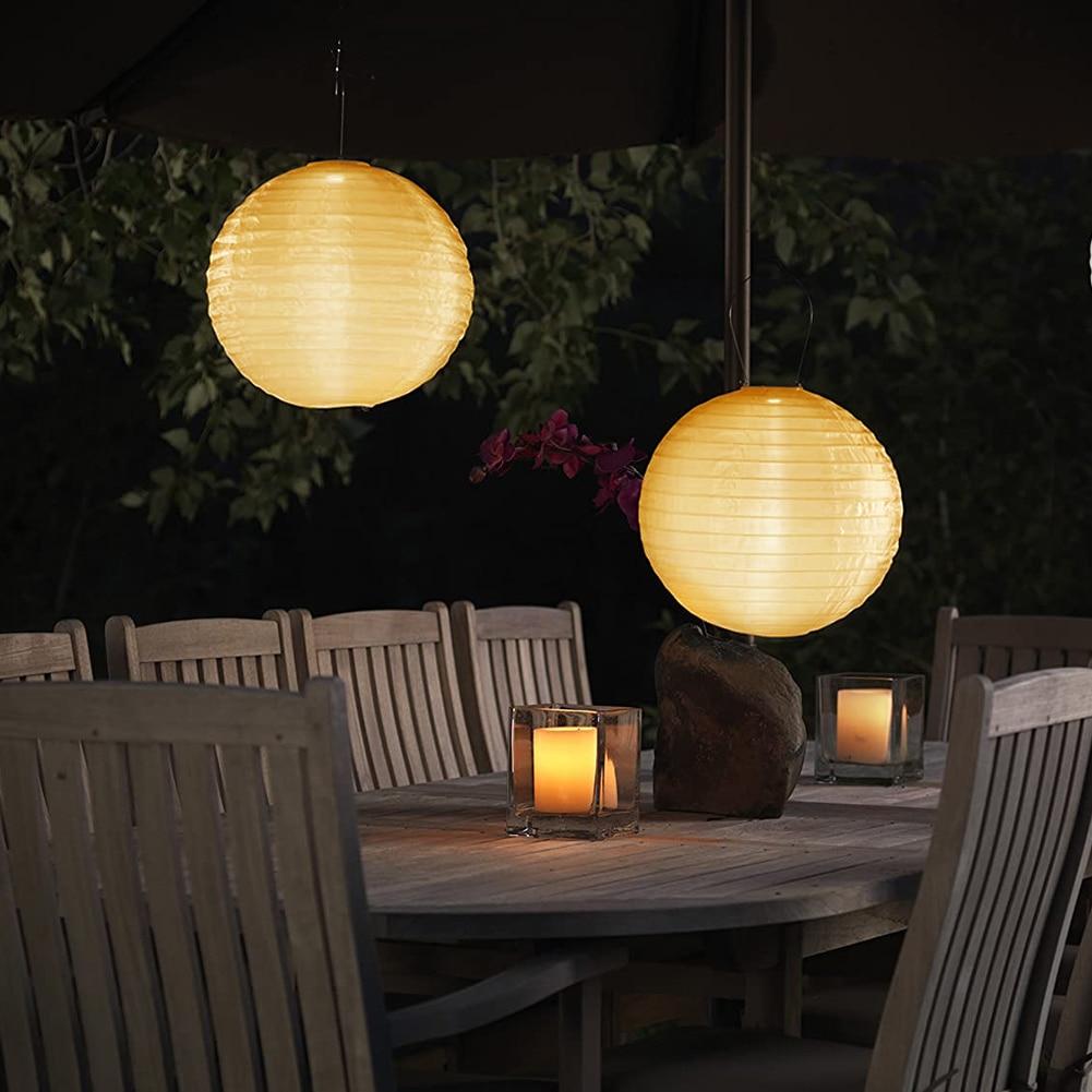 30cm LED Solar Lantern Lamp Waterproof  Garden Party Decor Hanging Light Festival Lampion Landscape For Outdoor Decoration