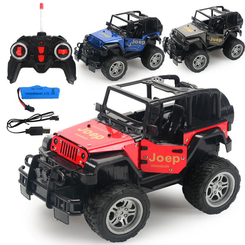1:18 Alloy Dirt Bike RC Car Lights Electric Radio Remote Control Drift SUV Off-road Vehicles Cars Models Toys for Children RC009