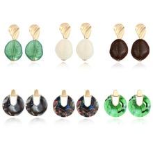 2019  New Exquisite Womens Acetate Earring Acrylic Tortoise Dangle Brincos Geometric Fashion Jewelry Free Shipping