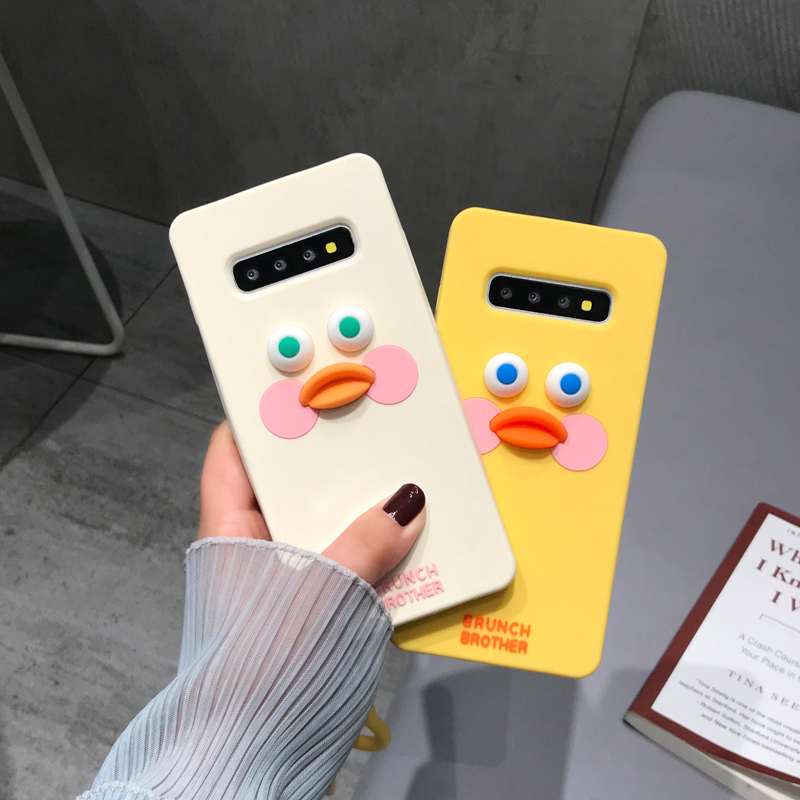 Cute Blush Duck <font><b>Samsung</b></font> S10plus <font><b>Case</b></font> Silicone S8 Cute Cartoon S9plus zhi huan tao Shatter-Resistant Note9 <font><b>Note8</b></font> Female image