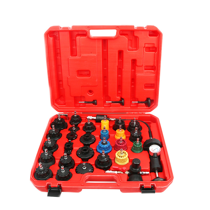 1 Set 32pcs Water Tank Leak Detector Car Cooling System Tester Kit Car Diagnostic Tool Pressure Testing Hand Pump with Gauge|Pressure & Vacuum Testers|   - AliExpress