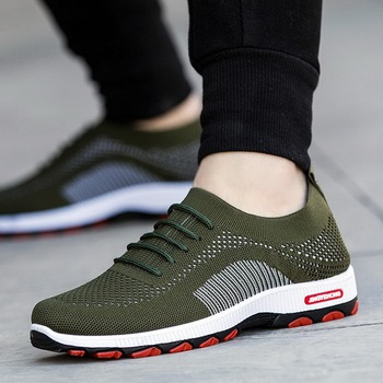 2020 New Autumn Men Vulcanize Shoes  Sneakers Wear-resisting Non-slip Male Mesh Tenis Plus Size Footwear