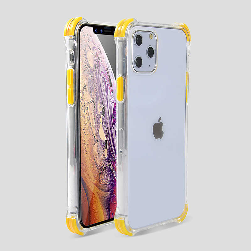 Shockproof Transparan Ponsel Case untuk iPhone 11 11 Pro Max XR X Max X 8 7 6 6S PLUS bumper Soft Silicone Anti-Fall Kembali Penutup