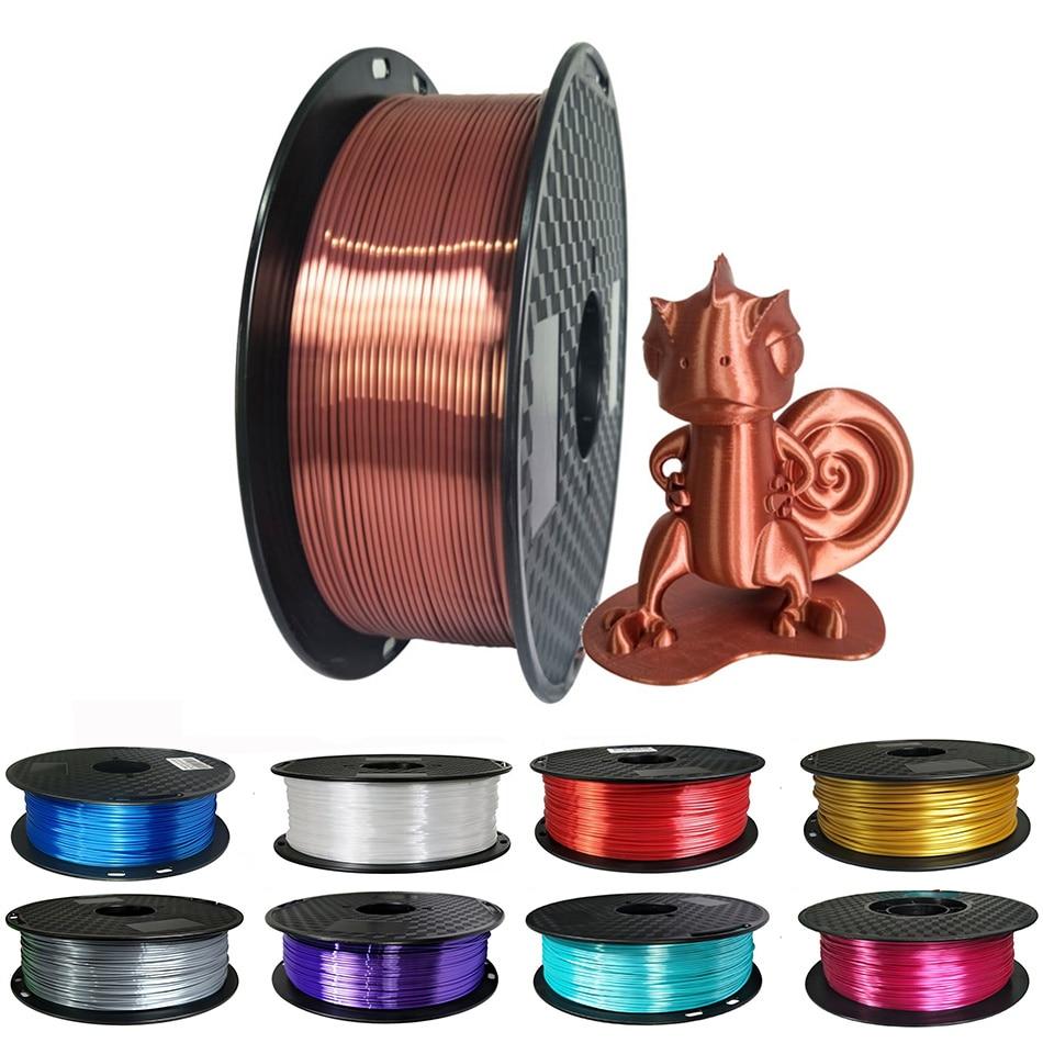 1,75 мм шелковый Pla нити 250 г блестящий металл-как 0,25 кг цвета: черный, красный и т. д. 19 видов цветов шелк 3D принтеры нити набор «сделай сам» для х...