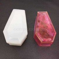 DIY Crystal Epoxy Mold Storage Box Molds Dark Vampire Coffin High Mirror Crafts Making Mould|Clay Molds| |  -