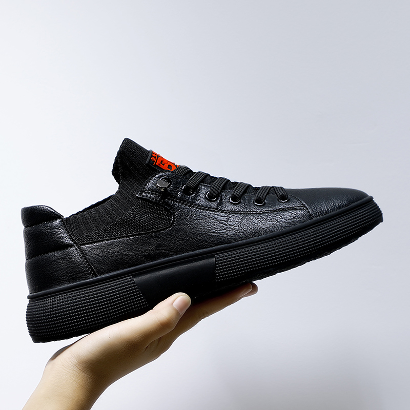 2019 Hot Men Original Leather Shoes High Quality Casual Shoes Men Wearable Flats Sneakers For Mens Black Youth Fashion Mens Shoe