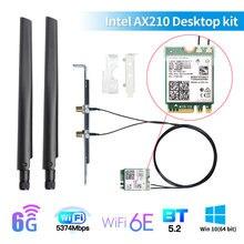 Беспроводной Wi-Fi 6E Intel AX210 двухдиапазонный Wi-Fi 6 AX200 3000 Мбит/с Настольный набор BT5.2 Wi-Fi кард-802.11AX 2,4G/5G/6 ГГц AX210NGW адаптер