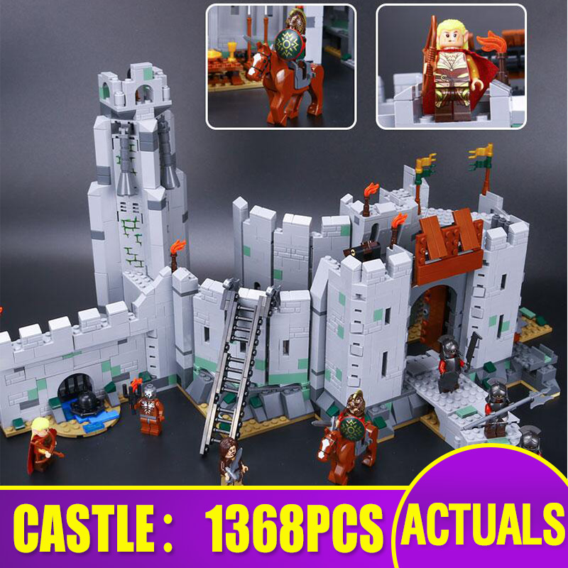 Lepining 16013 Movie Toys Compatible With 9474 The Battle Of Helm's Deep Set Assembly Building Blocks Bricks Kids Christmas Gift