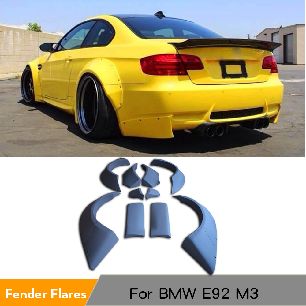 10PCS/SET Wide Body Big Fender Flares Wheel Well Arch Huge Covers Fit For BMW E92 M3 2008 - 2012 Car Styling