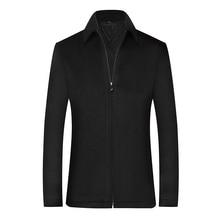 Пальто Мужские, черные шерстяные зимняя одежда, больших пальто,короткие куртки мужские пальто и куртки