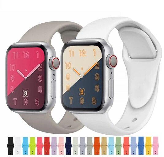 Weiche Silikon Sport Band Für Apple Uhr Serie 5 4 3 2 1 42mm 38mm 40mm 44mm Handgelenk Armband Strap Für IWatch