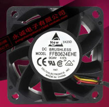 Para delta ffb0624ehe bf00 dc 24v 0.57a 60x60x38mm ventilador de refrigeração do servidor