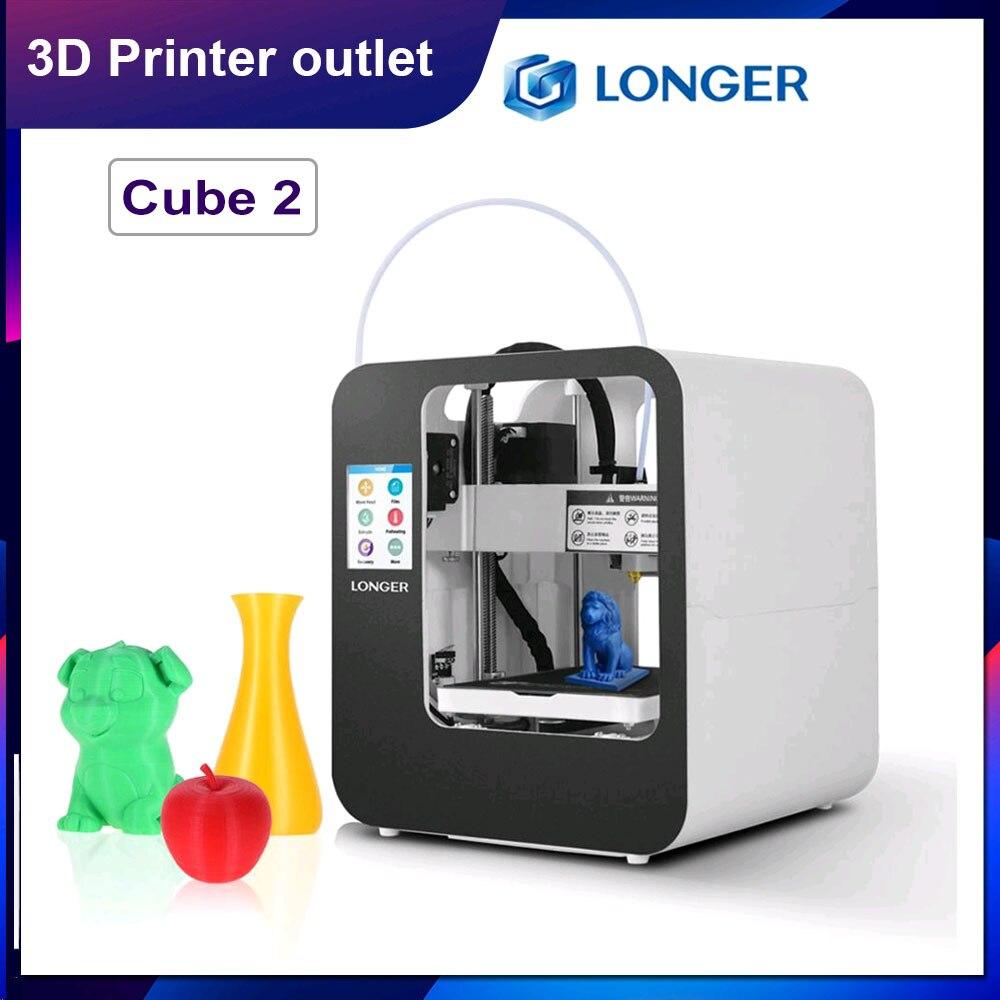 Больше Cube 2 мини-Настольный 3D-принтеры полностью собран с 2,8 дюймов ЖК-дисплей сенсорного экрана 120*140*105 мм Съемная насадка для поиска печать