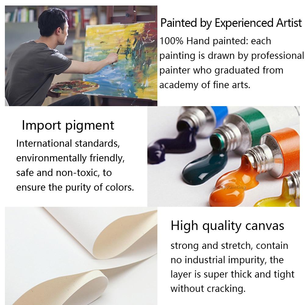 Lukisan minyak abstrak Modern pada kanvas untuk pop art jerapah - Dekorasi rumah - Foto 5