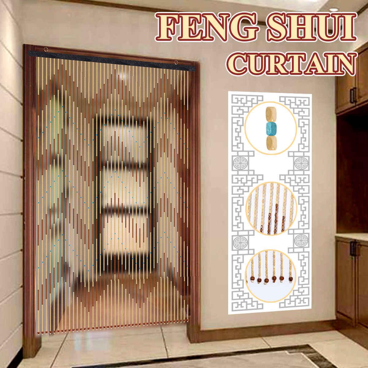 90x195cm fashion wooden door curtain 41