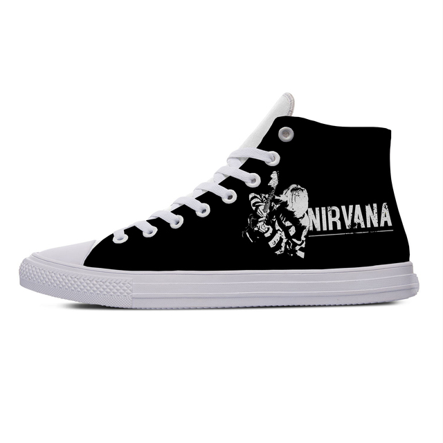 NIRVANA THEMED HIGH TOP SHOES (5 VARIAN)