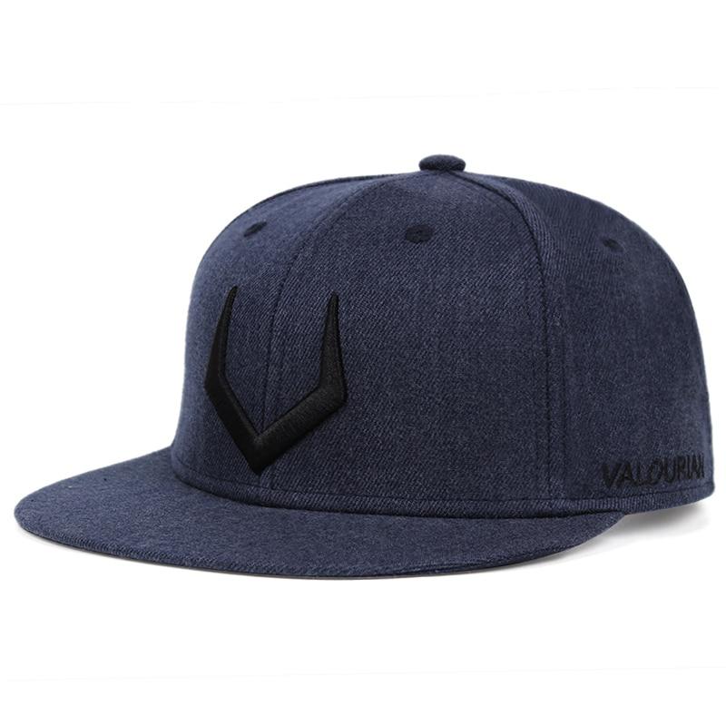 New arrival V embroidery men's baseball cap flat brim hip-hop hat adjustable snapback hat women's baseball hat outdoor sun hat
