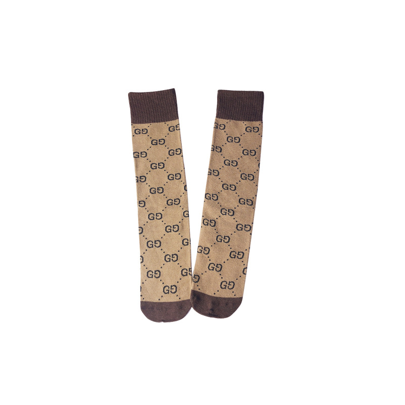 Autumn And Winter New Style Colored Cotton Double G Children Candy Bar Socks Parent And Child Bunching Socks INS-Style Versatile