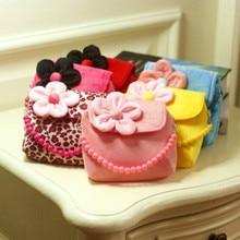 Детские леопардовые бархатные сумочки с цветочным принтом для маленьких девочек, мини-сумки через плечо для девочек, праздничные подарки на день рождения