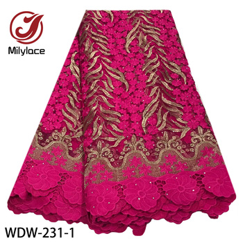 African Lace Fabric 2020 Embroidered Nigerian Laces Fabric Bridal High End French Tulle Lace Fabric for Wedding Party WDW-231