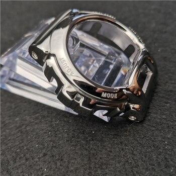 Bracelet de montre Bracelet lunette pour DW6900 noir métal acier inoxydable Bracelet de montre cadre de montre Bracelet accessoire avec outil de réparation