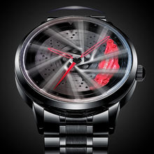 2021 New Unique Real 3D Model Spinning Car Wheel Hub Watch Luxury Luminous Japan Move Waterproof Super Car Rim Watches For Men