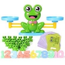 Escala de Equilíbrio De Equilíbrio Animal Brinquedo Matemática Montessori Número Jogo de Tabuleiro Educativo Brinquedo Macaco Sapo Animal Figura Preschool Brinquedo