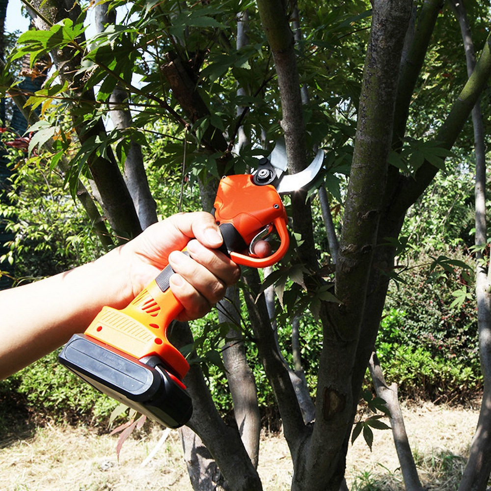 600w Electric Shears Cordless Electric Garden Pruner 2000mAhmah Lithium Battery Pruning Shear Orchard Scissors For Fruit Tree