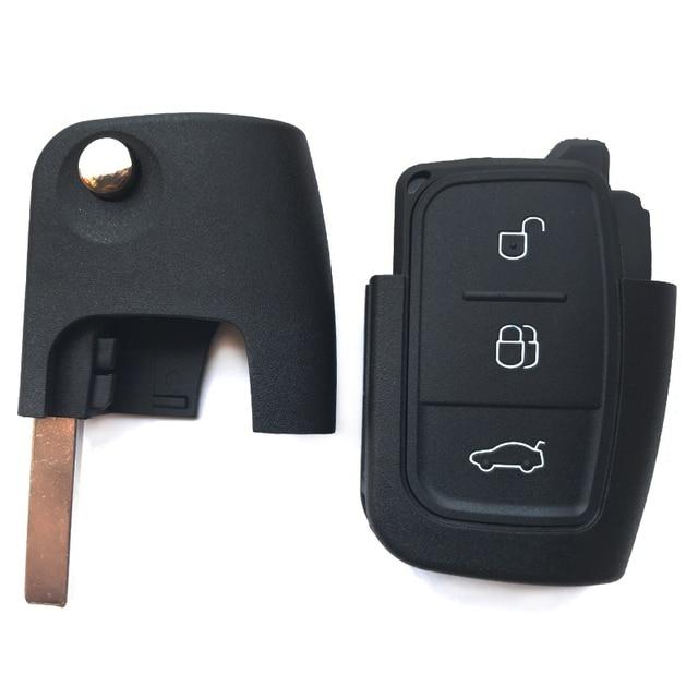 Remote key Fob shell Für Ford S-Max C-max Fokus fiesta galaxy Mondeo ka 3 Tasten Flip folding Auto Leere schlüssel Abdeckung fall