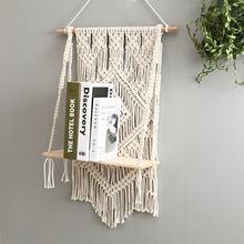 Деревянная подставка для макраме ручной работы в богемном стиле
