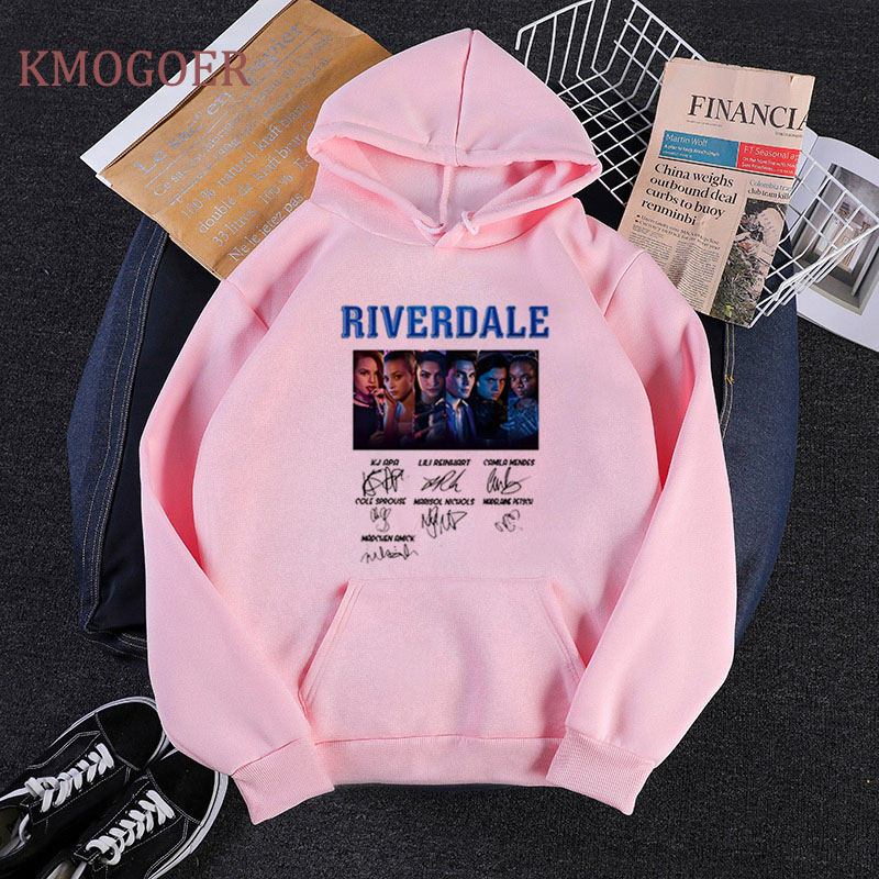 Riverdale Signature Sweatshirts Tv Series Women Sweatshirts Snake Girl Hip Hop Streetwear Harajuku Hoodies Pink Sudadera Mujer