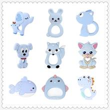 купить 1pc  Animal Style Baby silicone Teether Food Grade Toys Teething Nursing Silicone BPA Silicone Teether  DIY Newborn Gifts дешево