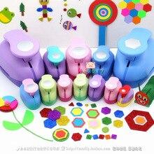 Геометрические Дырокол большой эмбоссер шестигранный круговой детский сад ручной работы материал Дети DIY перфоратор цветок