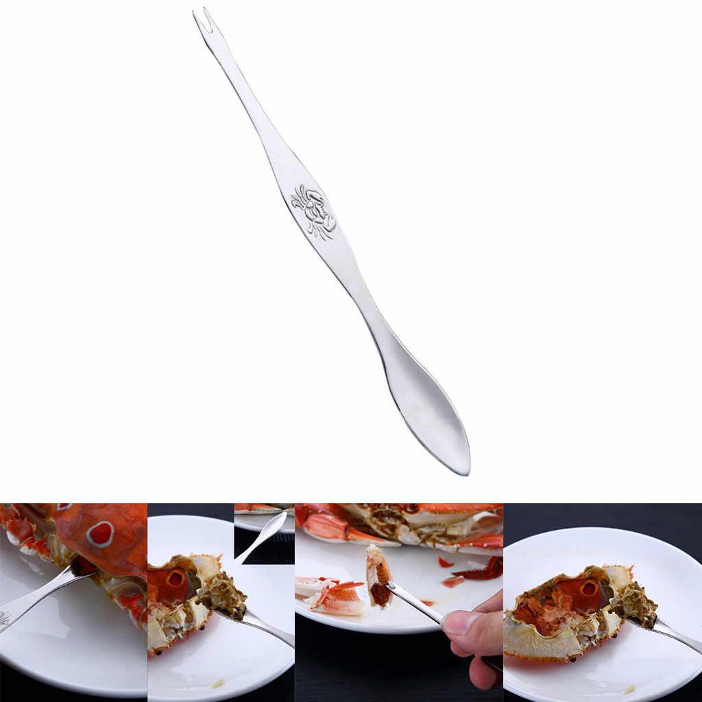Aço inoxidável comer caranguejo ferramenta liga de zinco alicate multi-purpose garfo faca de cozinha pesca lagosta escudo removedor #20