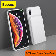 Baseus 3300 mah powerbank ケース電話充電器 iphone x/xs xr xs 最大バッテリーケース充電器ケース携帯電話充電器ケース