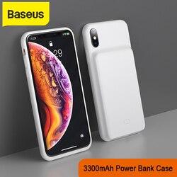 Cargador de teléfono con funda PowerBank Baseus de 3300mAh para iPhone X/XS XR XS Max, carcasa para cargador de batería, funda para cargador de teléfono móvil