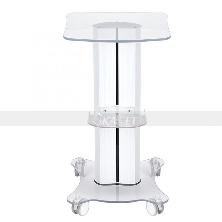 Beauty Trolley Stand Holder Rolling Cart Roller Wheel Aluminum ABS Trolley For Hydro Dermabrasion RF Cavitation Machine